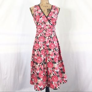 Robbie Bee Red Floral Sundress Aline Size 10